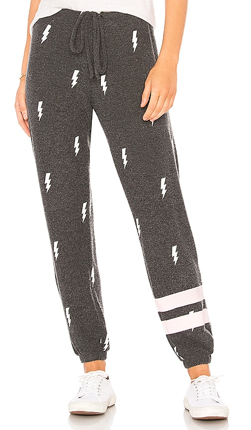 Chaser Lightning Toss Sweatpant in Black