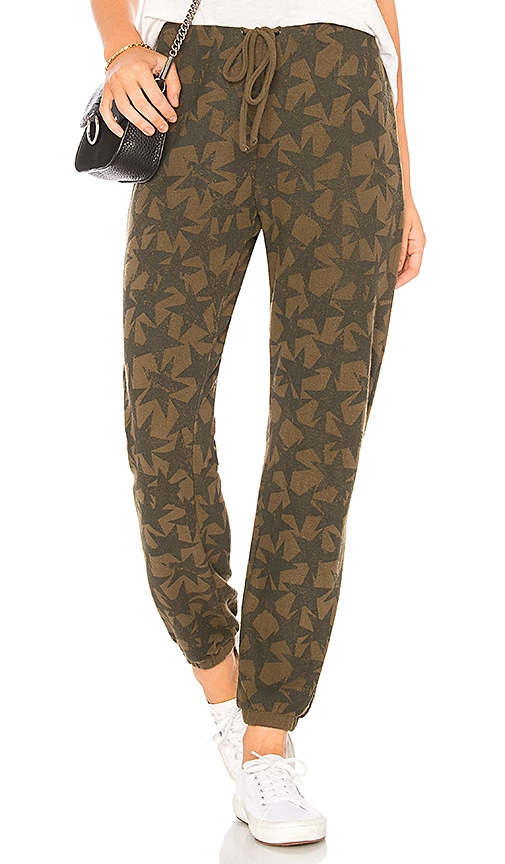 Chaser Stars Sweatpant in Green