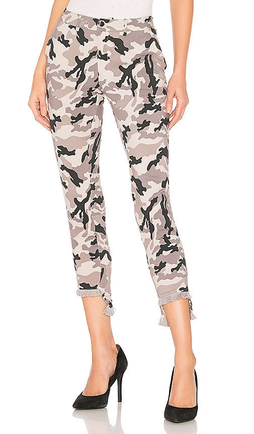 Lace Up Pant with Frayed Edge