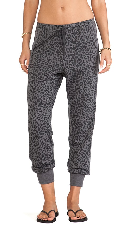 Reverse Animal Print Slouchy Pant