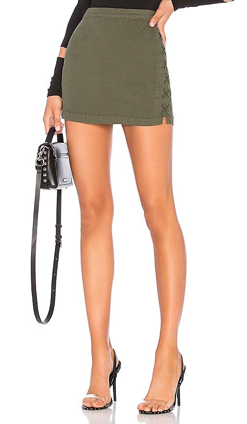 Lace Up Utility Mini Skirt