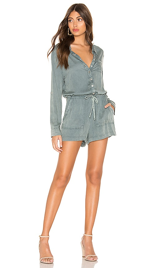 Snap Front Collared Romper