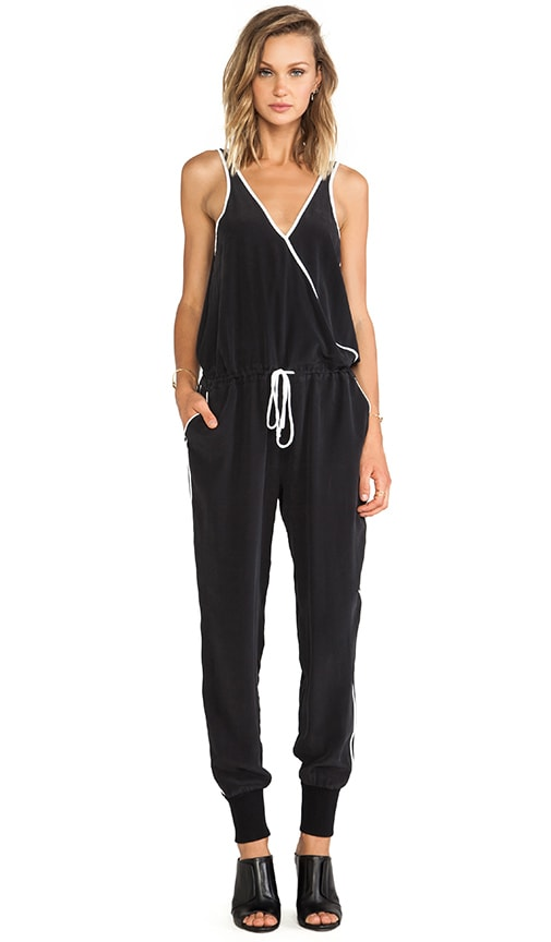 Contrast Piping Jumpsuit