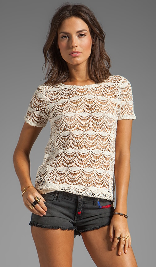 Spanish Lace Shirttail Tee