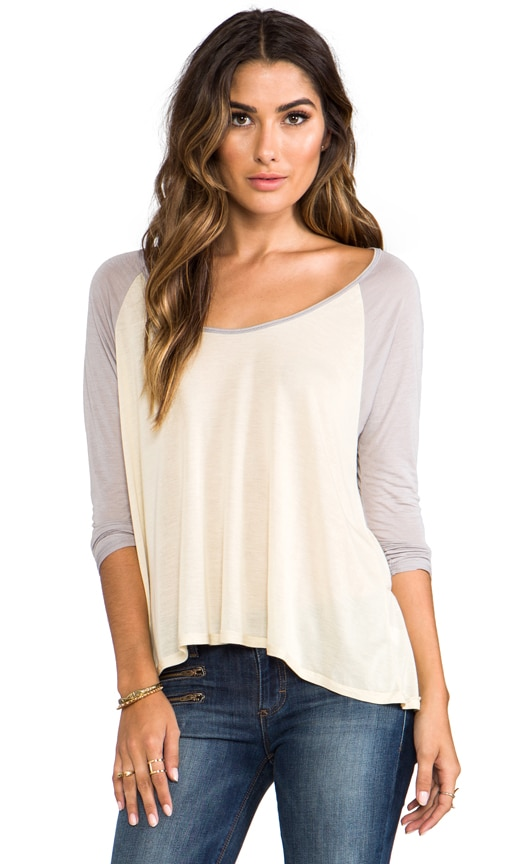 Long Sleeve Flounce Top