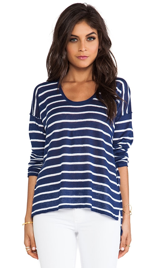Long Sleeve Stripped Boxy Tee