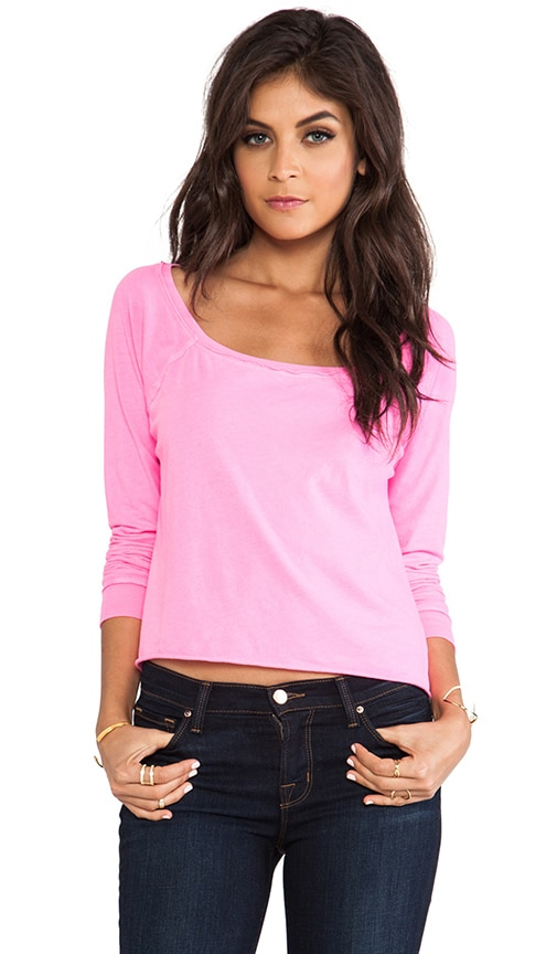 Long Sleeve Cropped Raglan