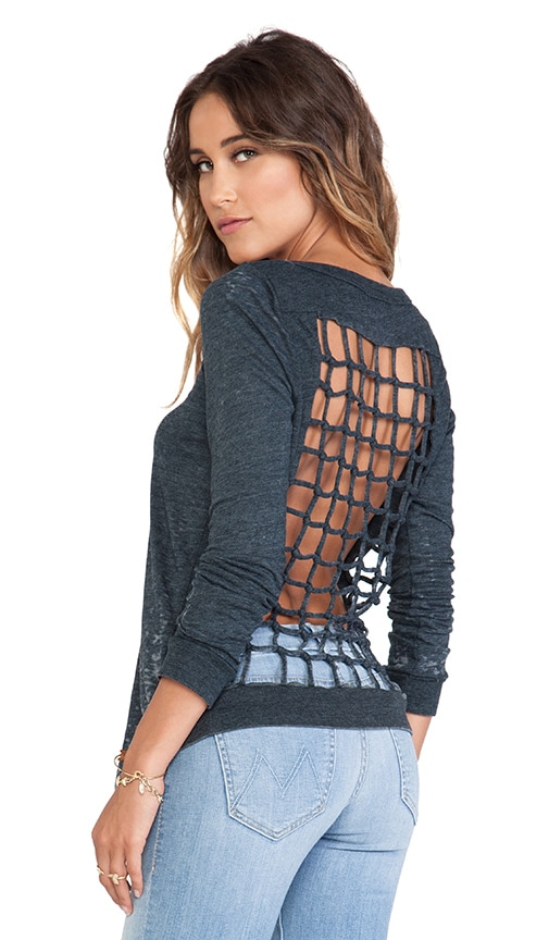 Tri-Blend Knot Back Long Sleeve Tee