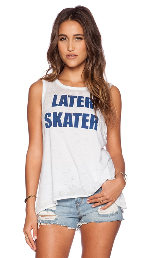 Chaser Later Skater Muscle Tank in White