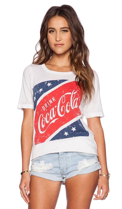 Chaser Coke Logo Tee in White