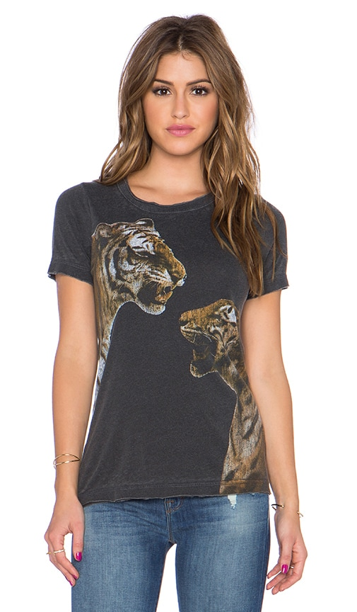 Chaser Angry Tigers Tee in Vintage Black