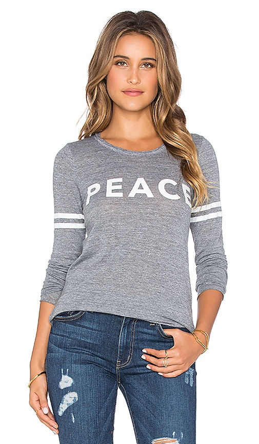 Chaser Peace Graphic Tee in Streaky Grey
