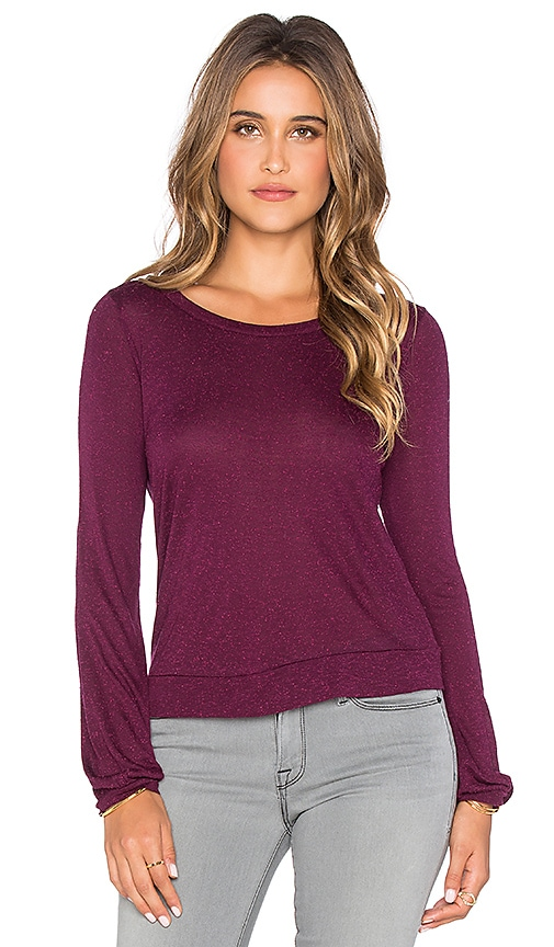 Chaser Open Back Tee in Cabernet