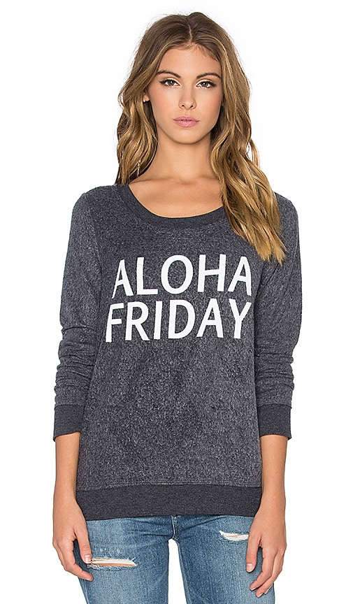 Chaser Aloha Friday Long Sleeve Tee in Black
