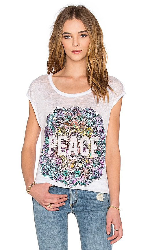 Chaser Peace Mandala Tee in White
