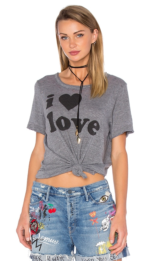 Chaser I Love Love Tee in Gray