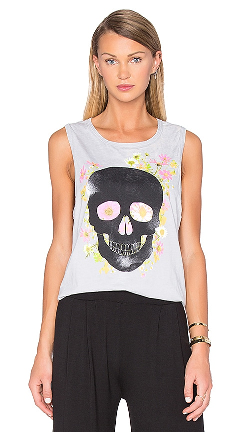 Chaser Dark Skull Tank in Gray