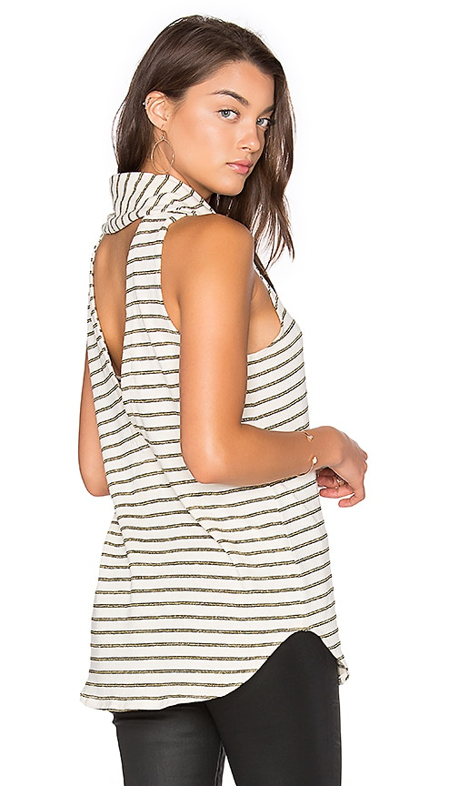 Chaser Cowl Neck Back Vent Tank in Ivory