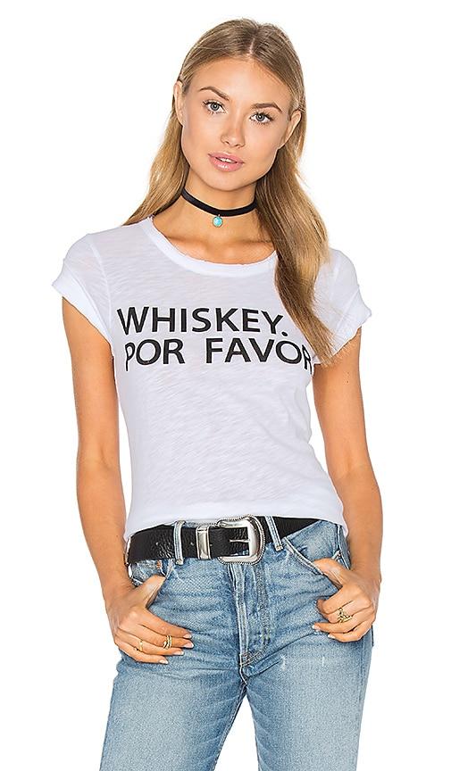 Chaser Whiskey Por Favor Tee in White