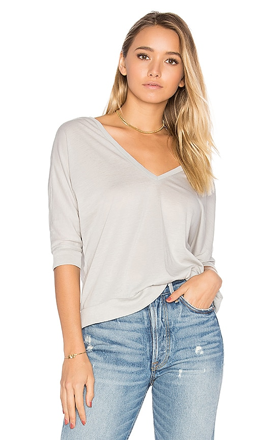 Chaser Double V Dolman Tee in Gray