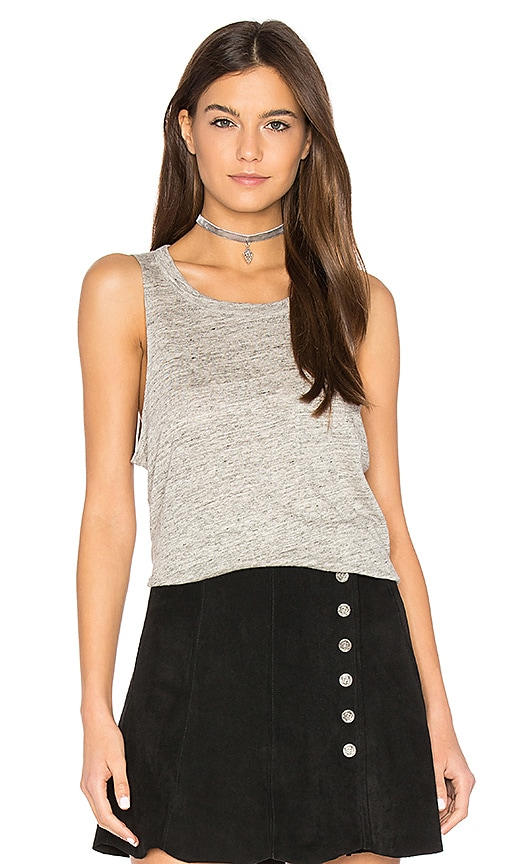 Chaser Pocket Shirttail Muscle Tee in Gray