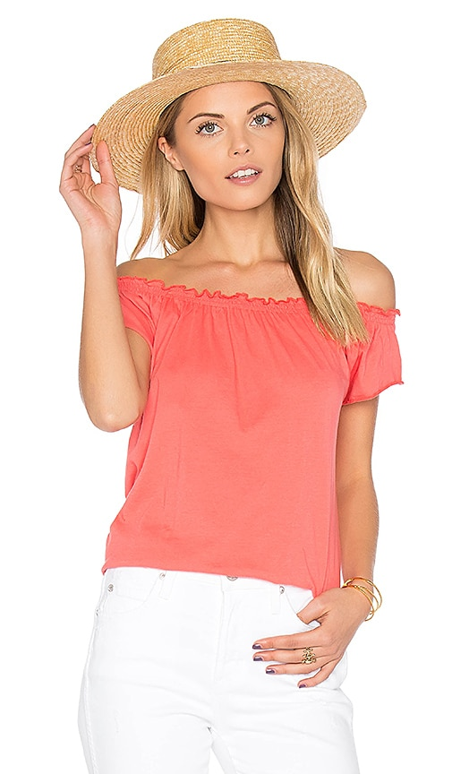 Chaser Boho Tee in Coral