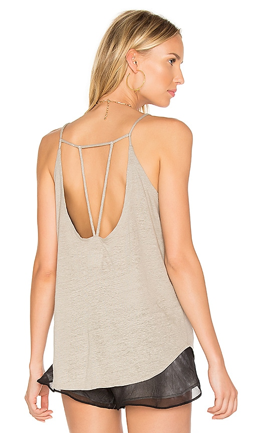 Chaser Strappy V-Neck Cami in Gray