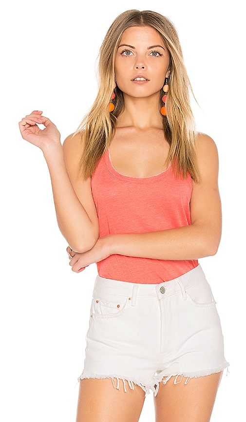 Chaser Everyday Shirttail Tank in Coral