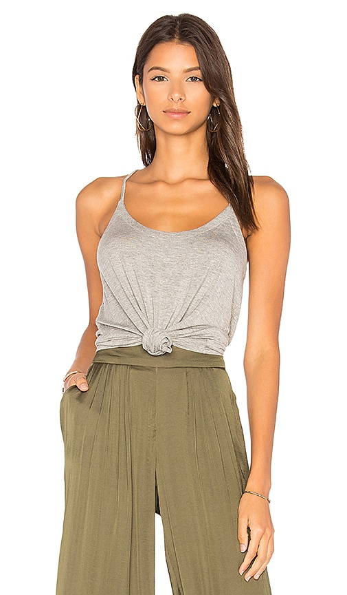 Chaser Strappy Scoop Neck Cami in Gray