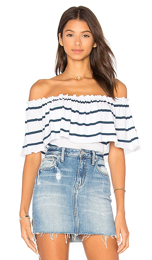 Chaser Bardot Top in White