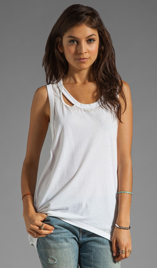 Deconstructed Deep Armhole Tank