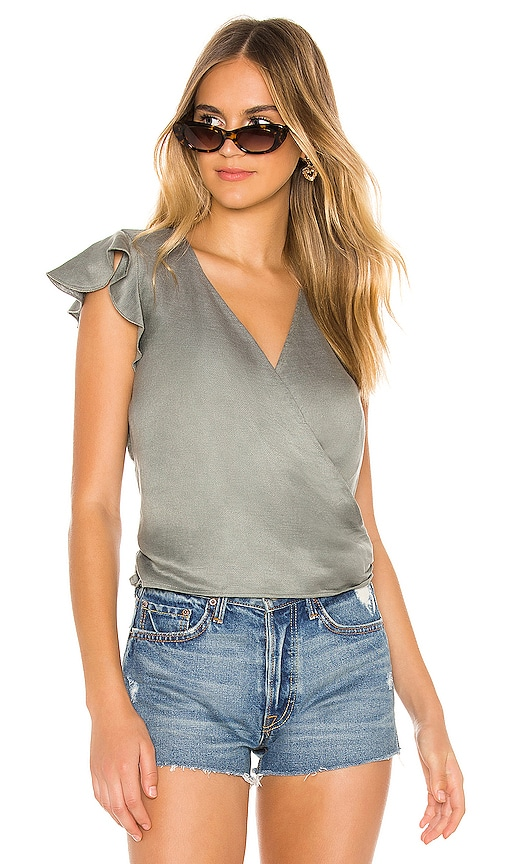 Flutter Wrap Crop Top