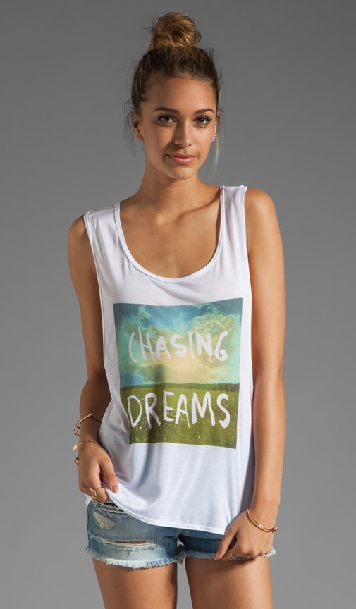 Chasing Dreams Hi Lo Muscle Tee