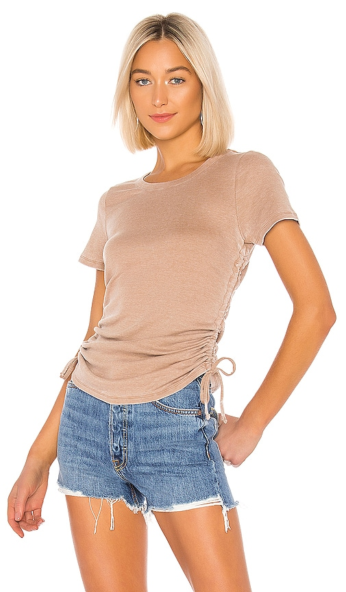 Ruched Drawstring Side Tee