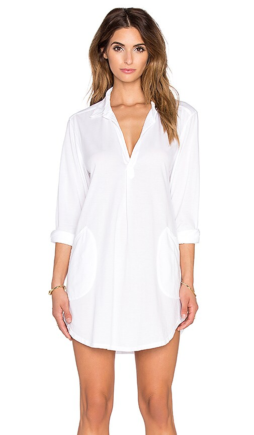 CP SHADES Teton Knit Tunic Dress in White