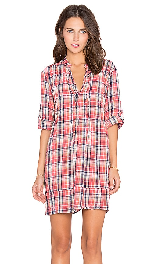 CP SHADES Regina Tunic Dress in Red Plaid