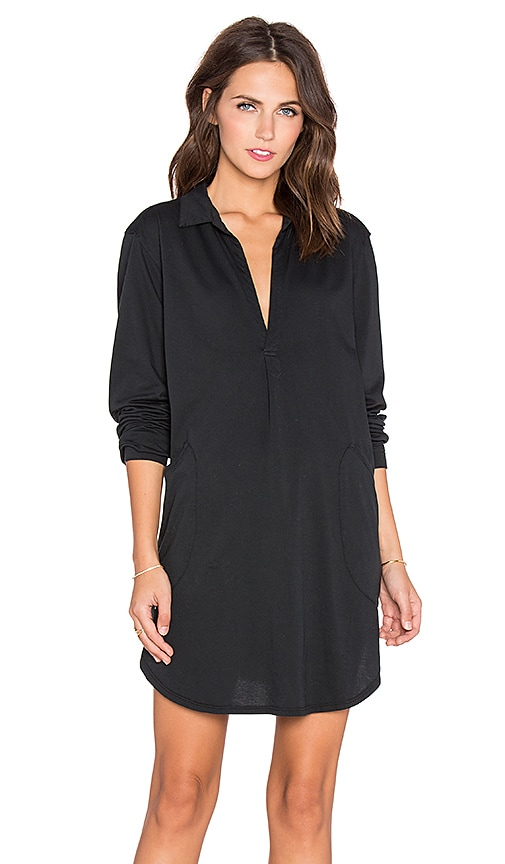 CP SHADES Teton Knit Tunic Dress in Black