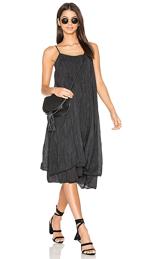 CP SHADES Lia Silk Dress in Black