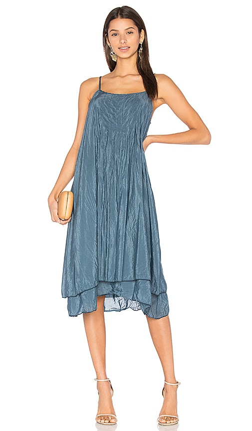 CP SHADES Lia Silk Dress in Blue
