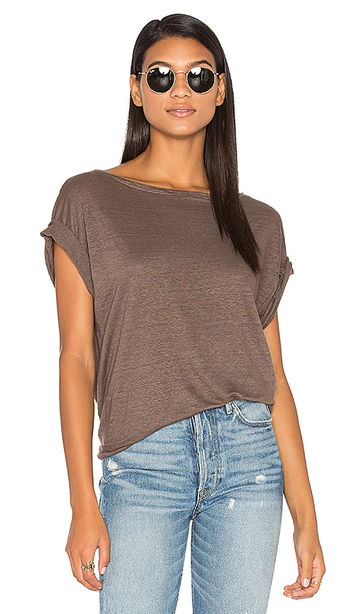 CP SHADES Ellery Off Shoulder Tee in Taupe