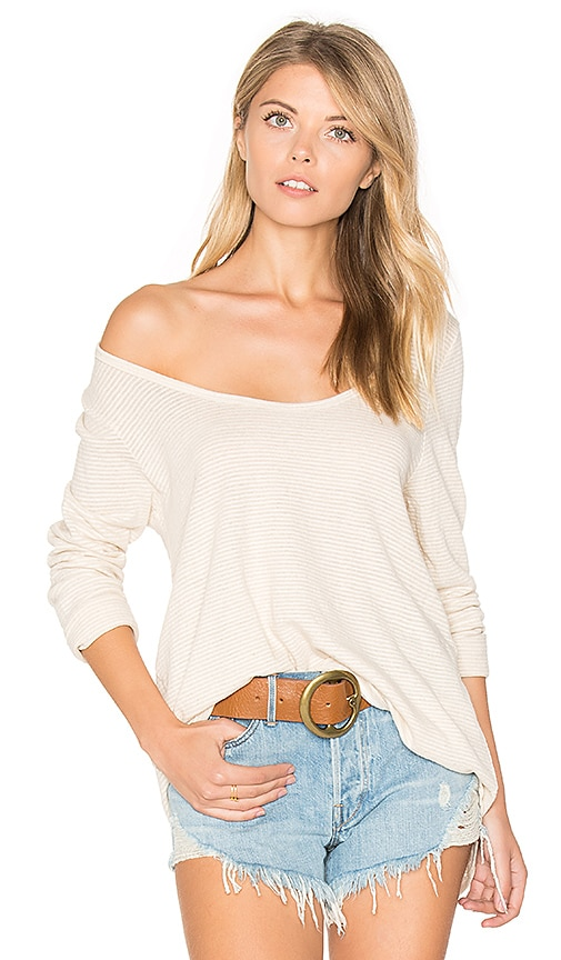 CP SHADES Gia Long Sleeve Tee in Beige