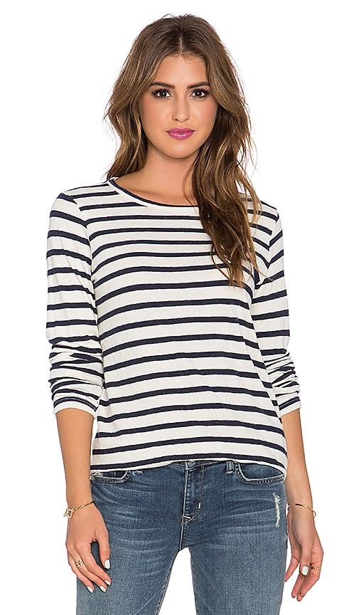 CP SHADES Tea Striped T Shirt in Navy