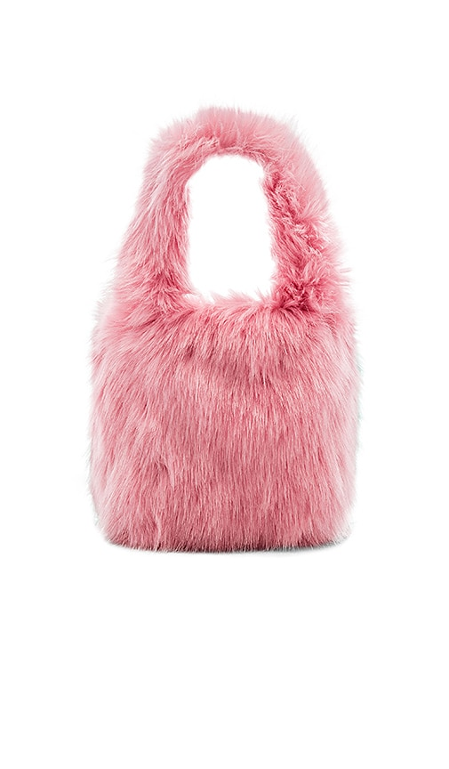 Charlotte Simone Lil Pop Faux Fur Tote in Pink