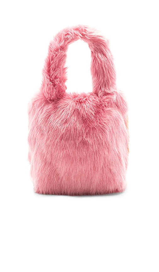 Charlotte Simone Pop Faux Fur Tote in Pink
