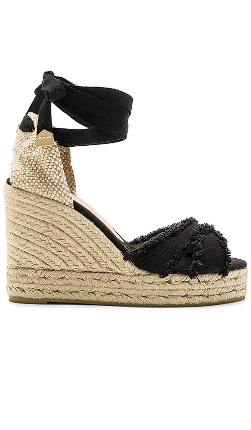 Castaner Bluma Wedge in Black