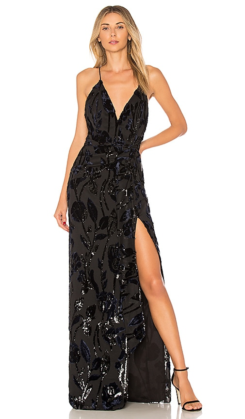 Chrissy Teigen x REVOLVE Jet Lagged Maxi Dress in Black