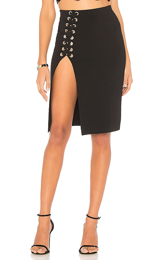 CHRISSY TEIGEN X Revolve Como Skirt in Black