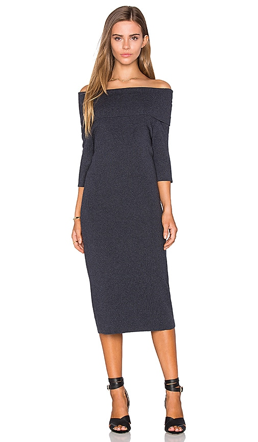 cupcakes and cashmere Jason Dress in Charcoal