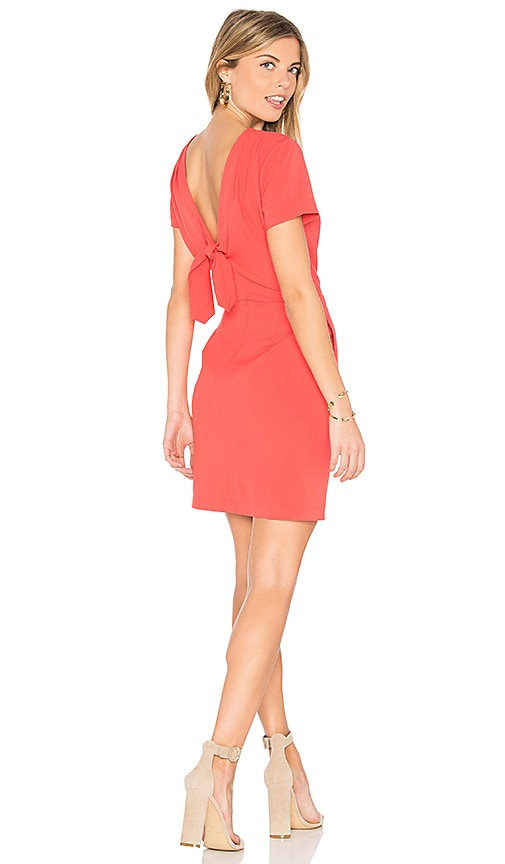 cupcakes and cashmere Vista Dress in Coral