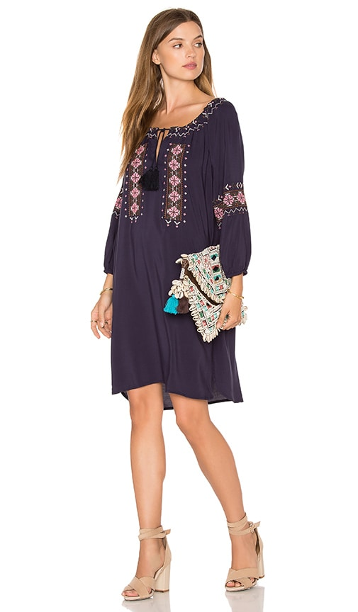cupcakes and cashmere Teddy Dress in Navy